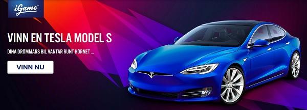 Spela casino hos iGame och vinn en Tesla